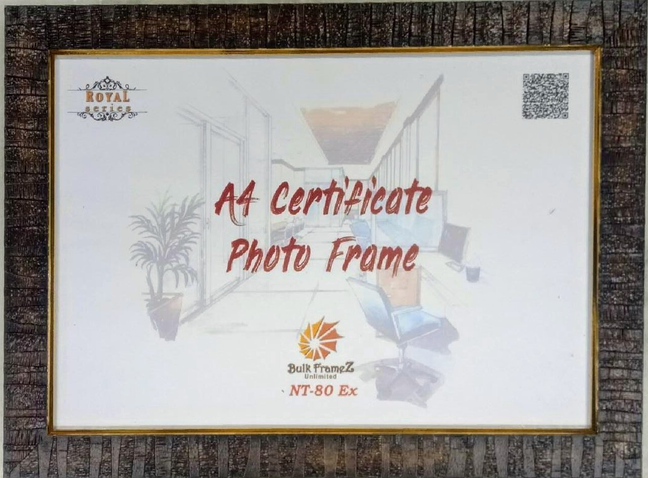 Personalized Photo Frame - Certificate (Select Frame Size and Upload your Photo here)