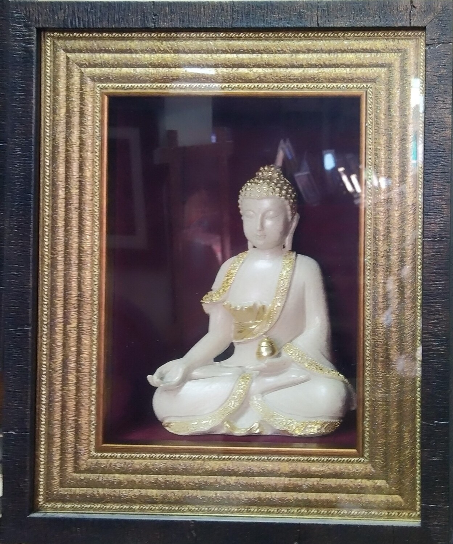 Lord Buddha idol with Box Frame