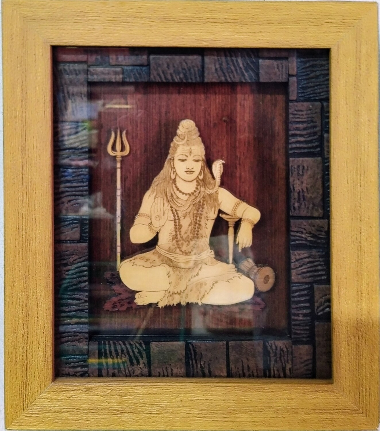 Lord Shiva - Wood Work Picture Frame