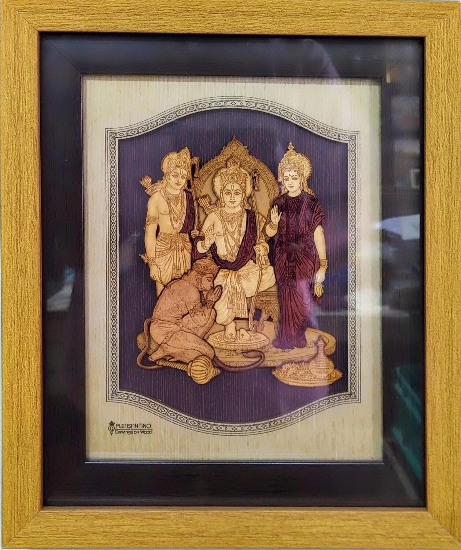 Lord Sri Rama - Wood Work Picture Frame