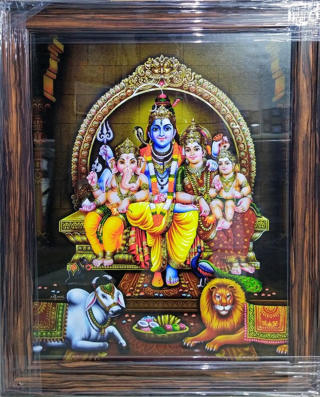 Lord Shiva and Goddess Parvati  Photo Frame