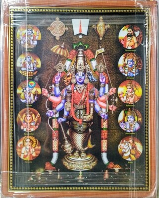 Lord Balaji Photo Frame - Dashavatar