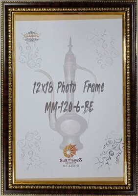 Personalized Photo Frames - Black with Gold color lining (Select Frame Size and Upload your Photo here)