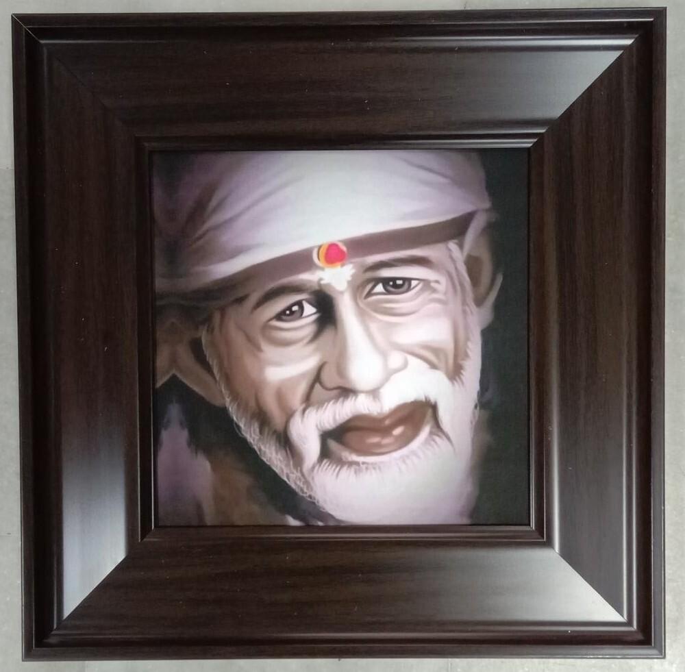 Lord Saibaba - Canvas Art Copy Photo Frame