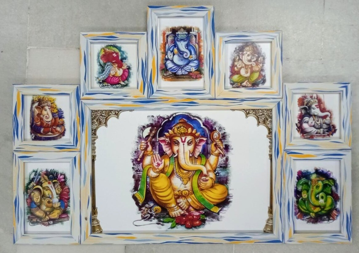 Lord Ganesh - one Multi frame set of 8 different images