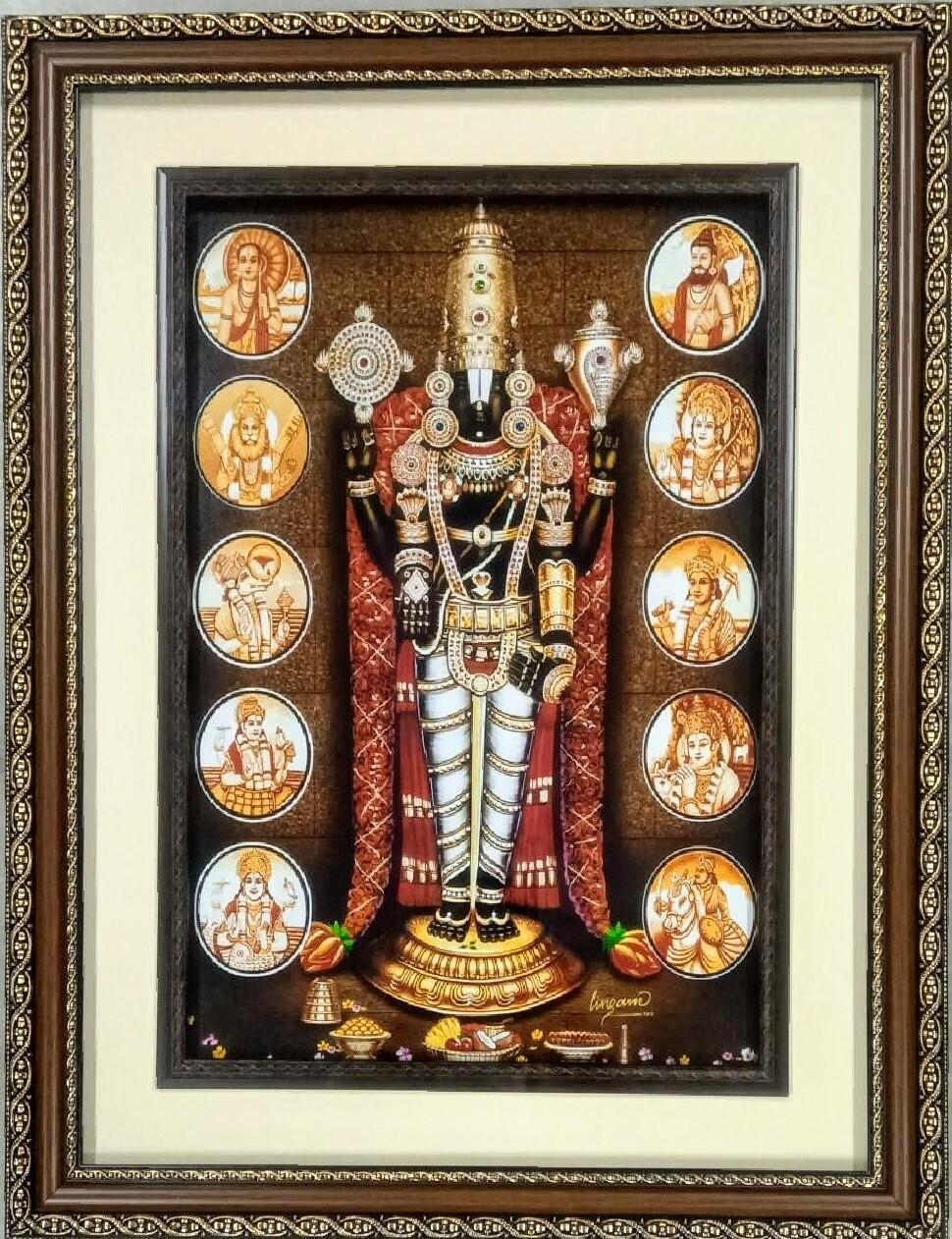 Lord Balaji Dashavatar - Double Photo Frame