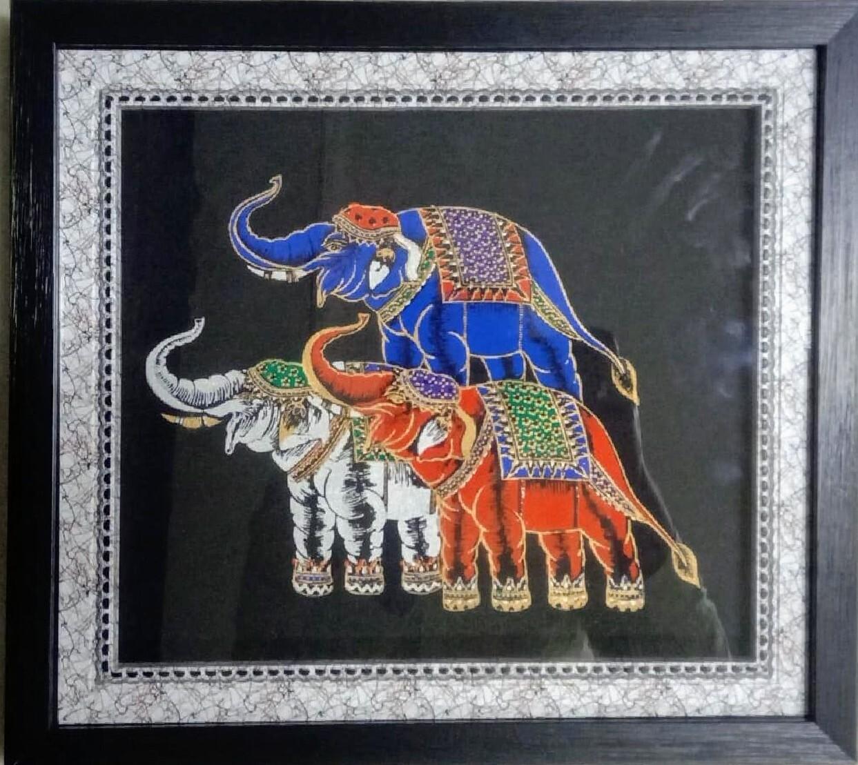 Classical Art Elephants Photo Frame