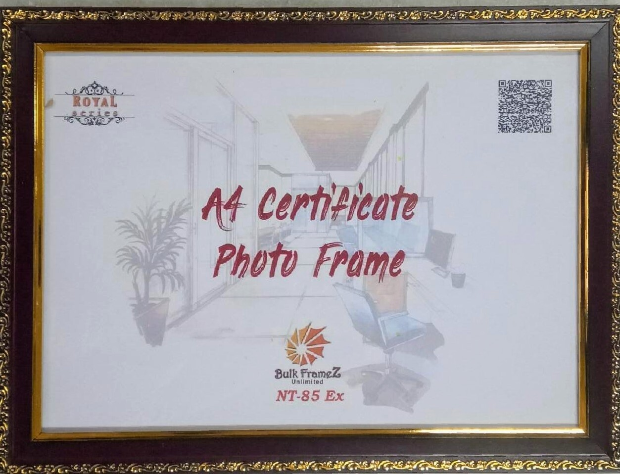 Certificate A4 Size Photoframe (Upload your certificate here)