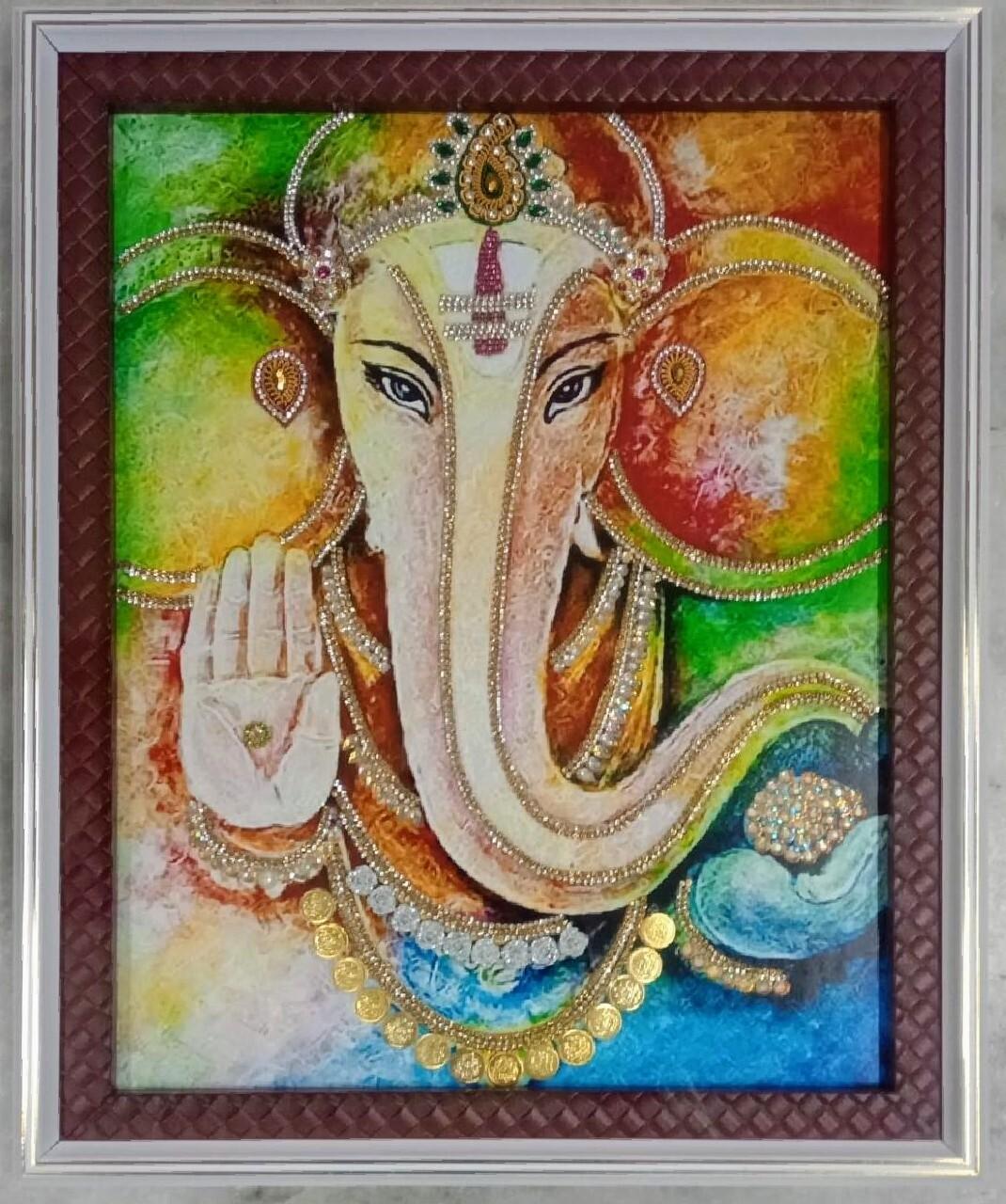 Lord Ganesh - Modern Art Photo Frame