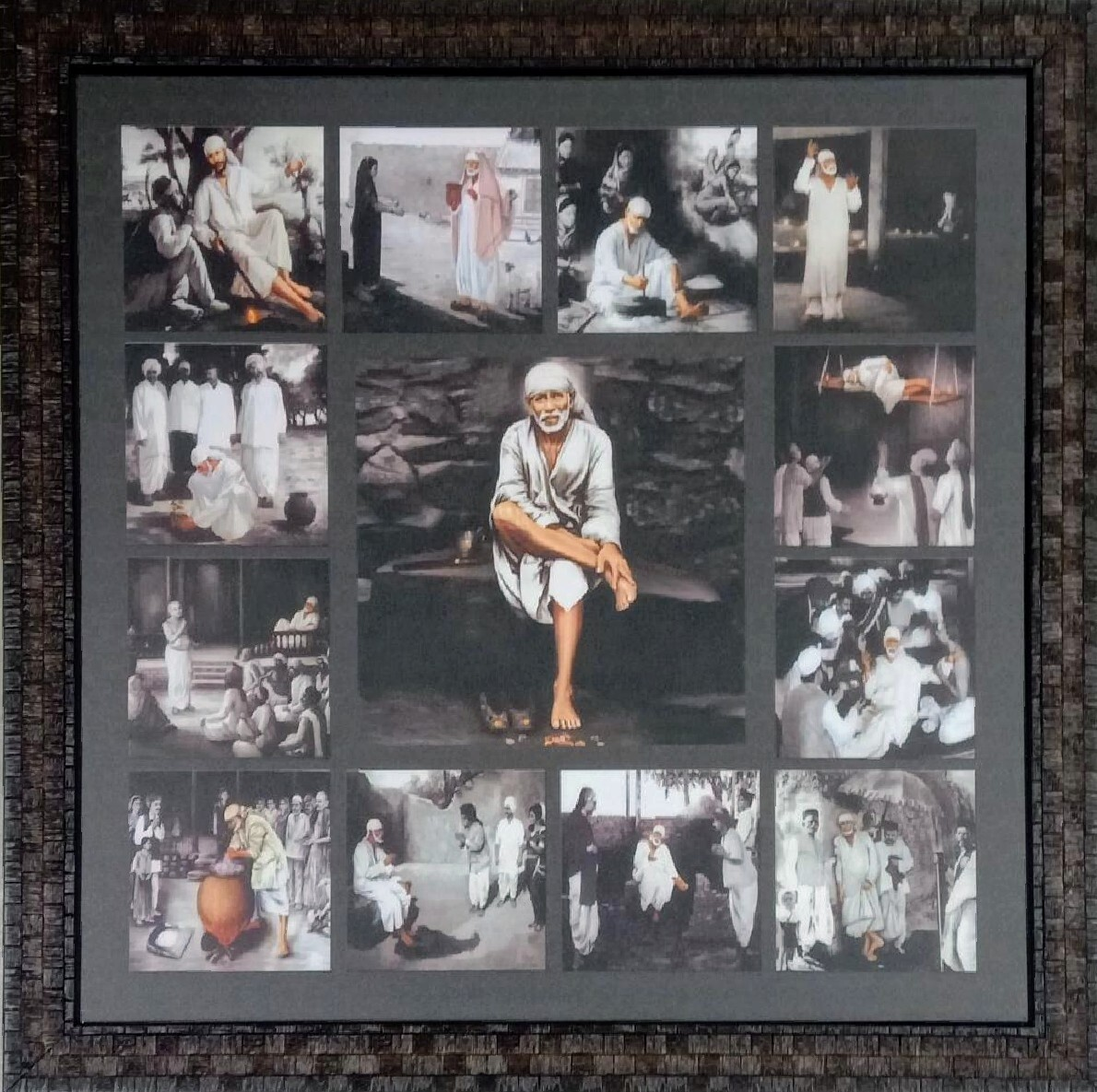 Lord Sai Baba Photo Frame (Any Square Size)