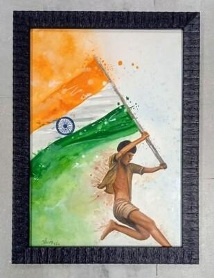 India Flag Artistic Photo Frame