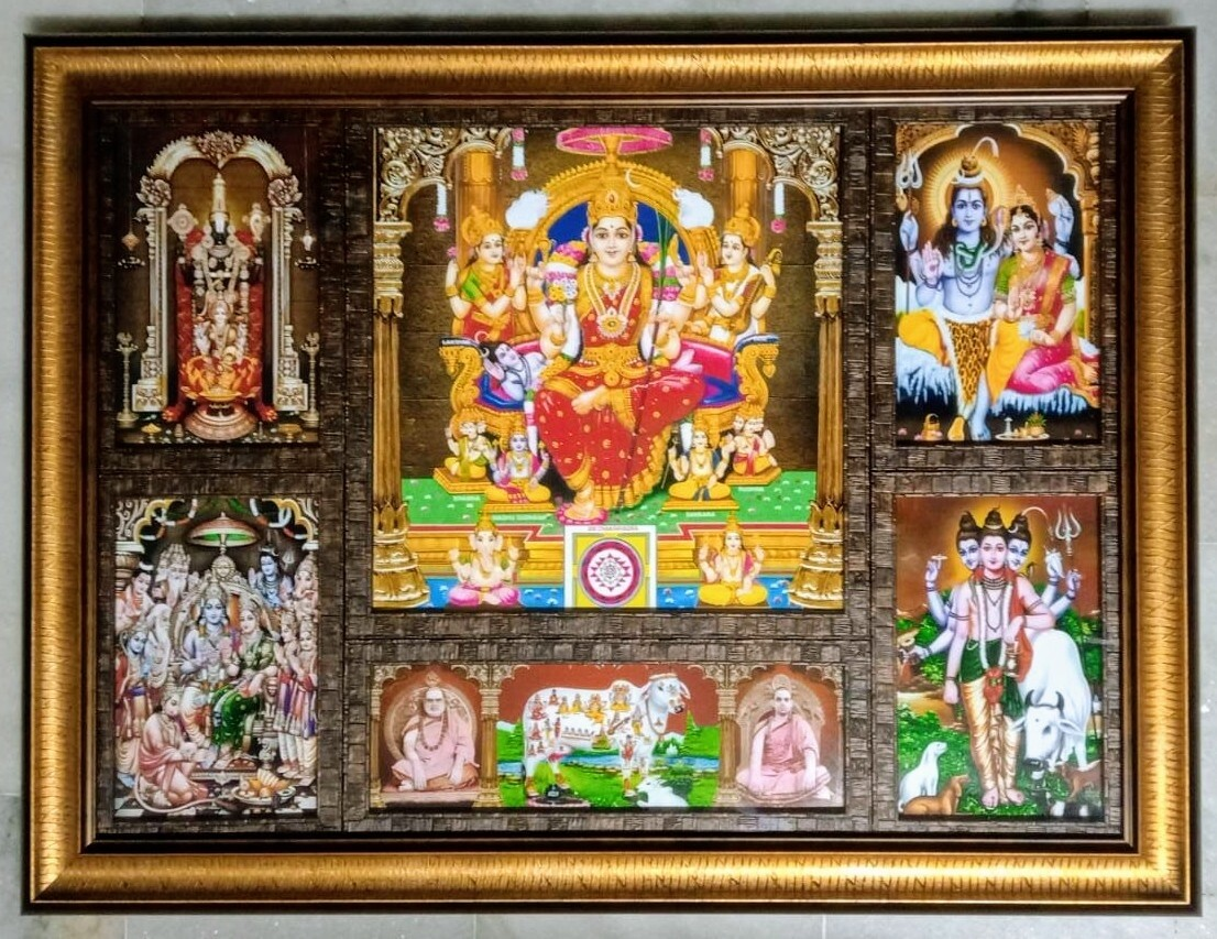 All in One Hindu God images - Special Craft work Photoframe
