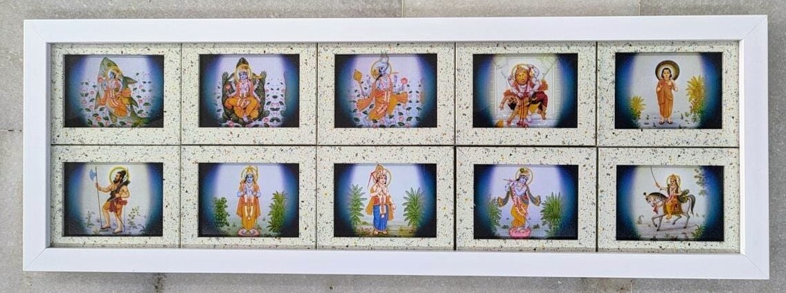 Dashavatar God images - Collage Photo Frame