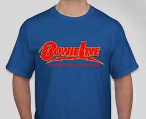 Blue BowieLIVE T Shirt