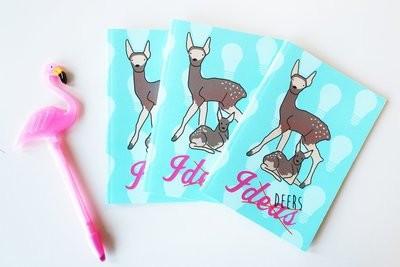 Ideas (deers) A6 notebook