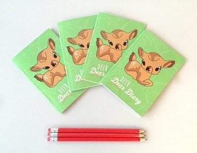 Cute Deer A6 plain notepad