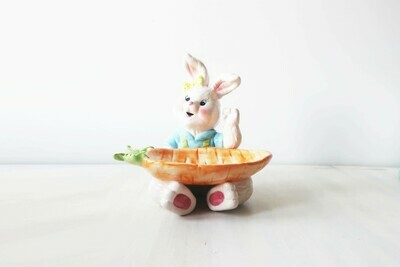 Large Easter Rabbit Treat Dish