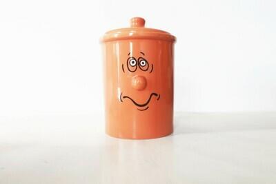 Orange 80's large funny cookie jar