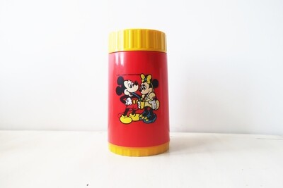 Vintage Disney Mickey & Minnie Mouse plastic flask by Bluebird