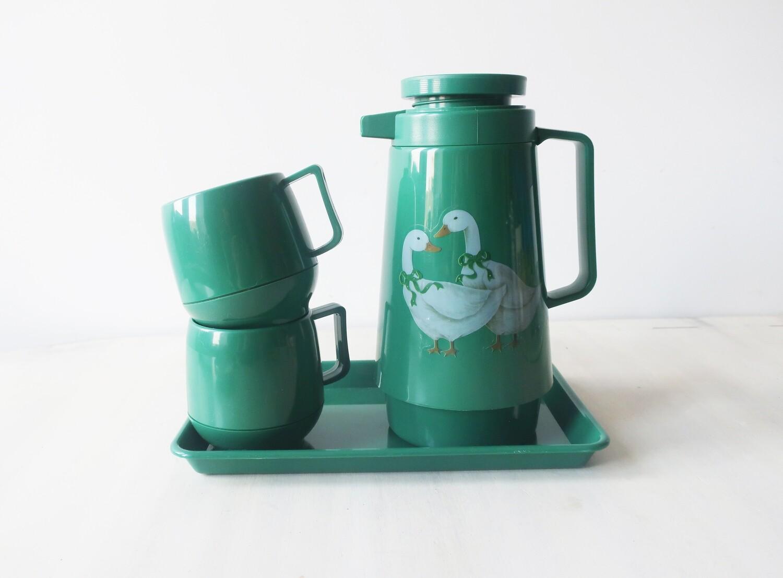 1980S Green Goose Plastic Teaset