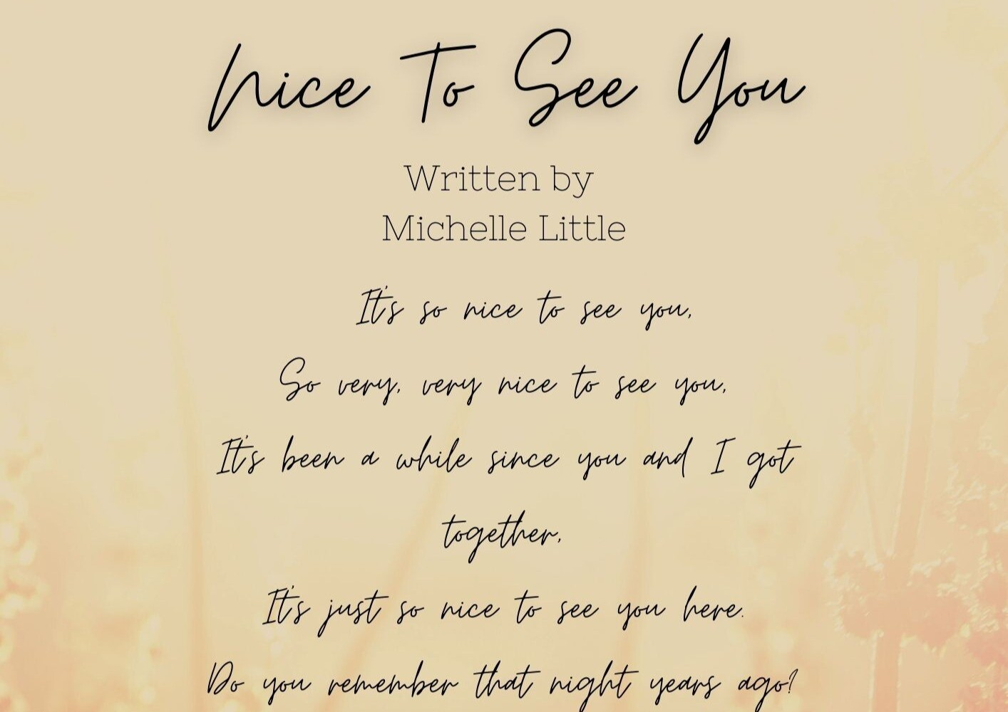 Nice To See You Lyrics