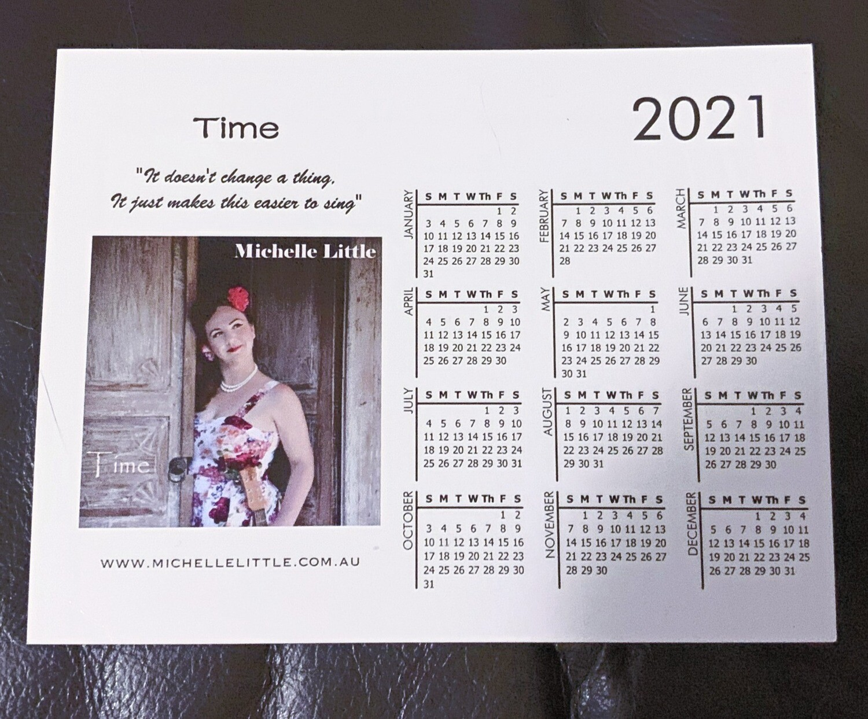 """Time"" Calendar Magnet"