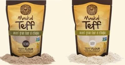 Teff Flour 0.4 KG pack sold 6 packs - 2.4 KG ሰርገኛ ወይም ቀይ ጤፍ