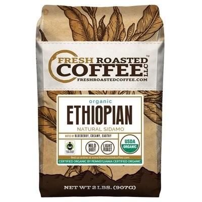 Ethiopian Sidamo Water Processed FTO Coffee, Whole Bean