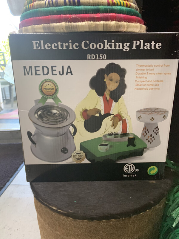 Electric Cooking Plate Medija ምድጃ