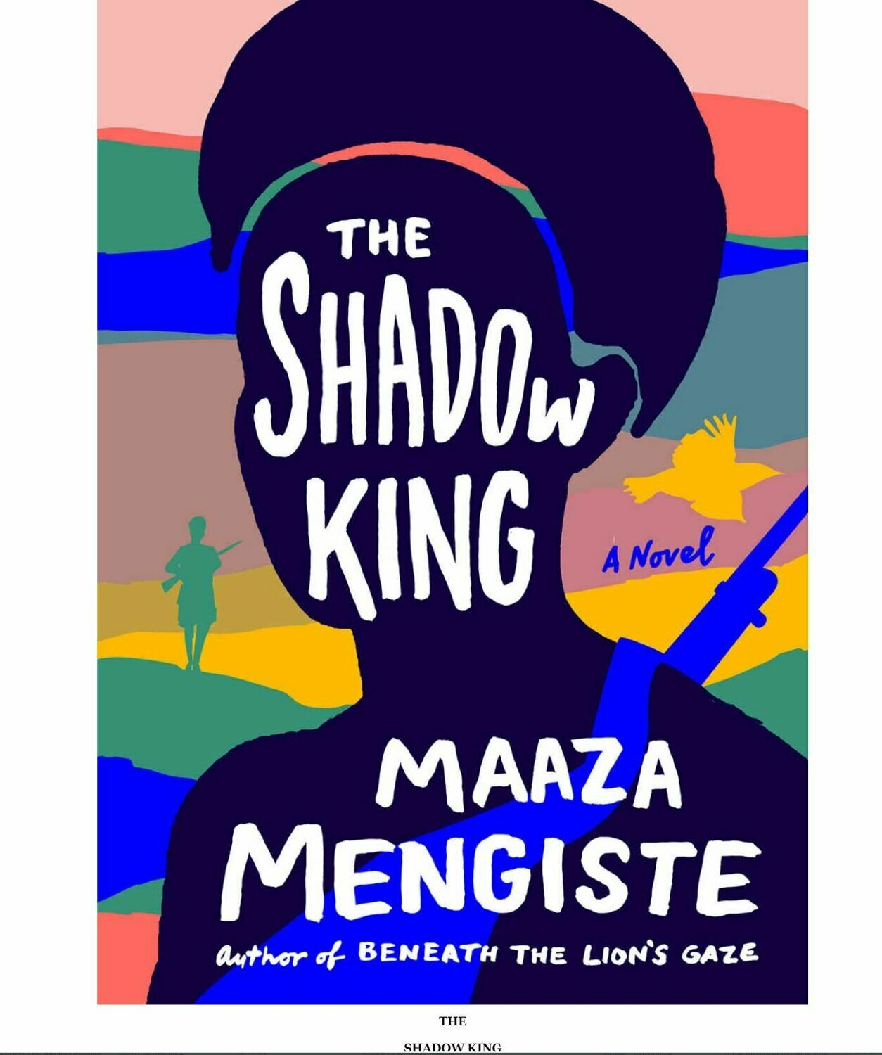 """ስውሩ ንጉስ"" በመአዛ መንግሥቴ ""The Shadow King"" by Maaza Mengste"
