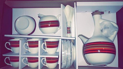 Ethiopian Coffee Cups and Jebena Set | Oromia Culture | 23 Pcs