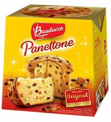 ፓንቶኔ ኬክ ቴምር ያለው Bauducco Panettone Original, 26.2 oz