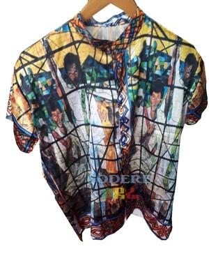 የወንዶች አላባሽ  | የሰአሊ አፈወርቅ ተክሌ ስእል ያለበት | Men T-shirt