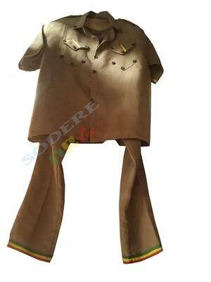 ካኪ የኢትዮጲያ አርበኞች ሙሉ ልብስ Ethiopian patriots Kaki cloth