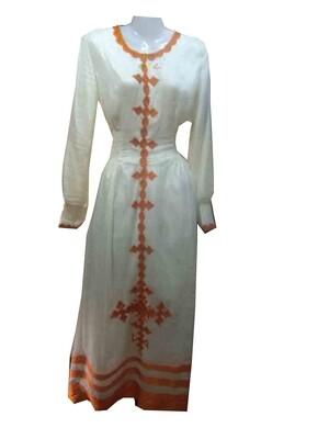 ረዘም ያለ የሀበሻ ቀሚስ / Ethiopian Traditional Long Dress