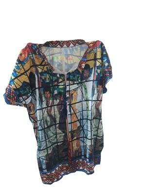 የወንዶች አላባሽ  | የዓለም ሎሬት ሜትር አርቲስት አፈወርቅ ተክሌ ስእል ያለበት | Men T-shirt