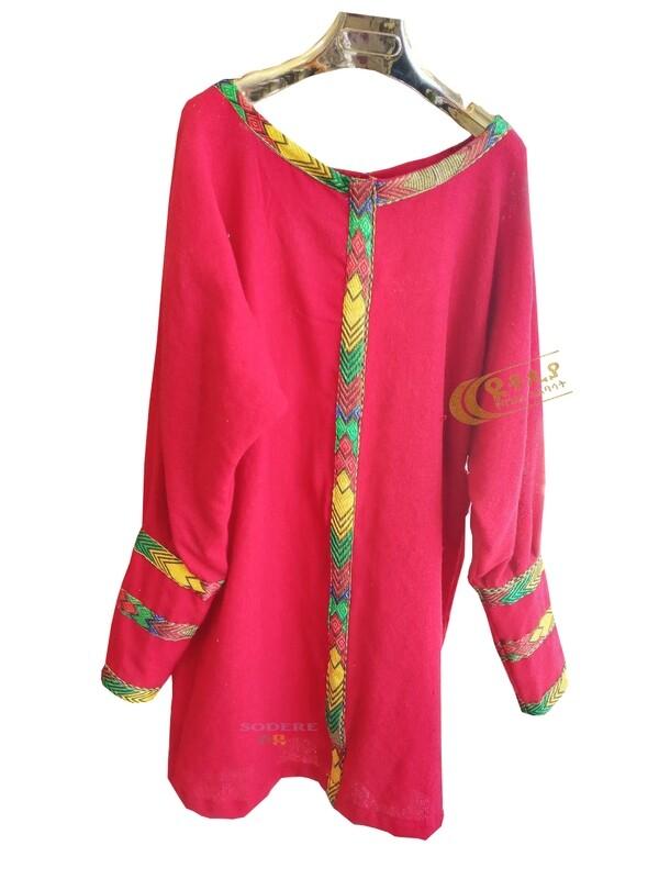 የሴቶች አላባሽ ወይም ቀሚስ  Ethiopian Traditional Women Short Dress / Designed By ዩቶጲያ Traditional Cloth