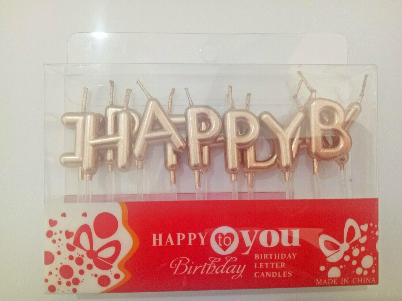 የልደት የቁጥር ሻማዎች Birthday Letter Candles (Ethiopia Only)