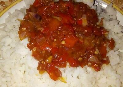 Rice Tomato Sauce (ሩዝ በቲማቲም)
