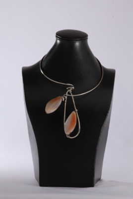 Silver Nuture Agate Necklace