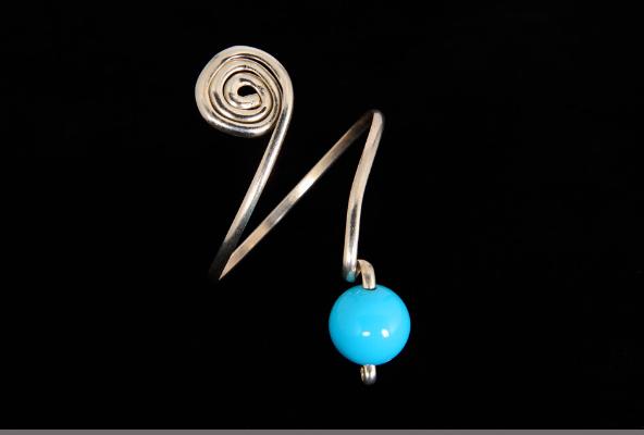 Silver Turquoise Bangle Bracelet