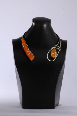 Silver Russian Amber Necklace