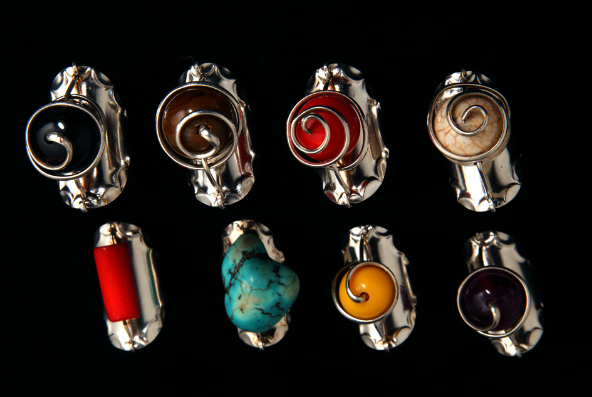 Silver Rings With Different Precious Stone