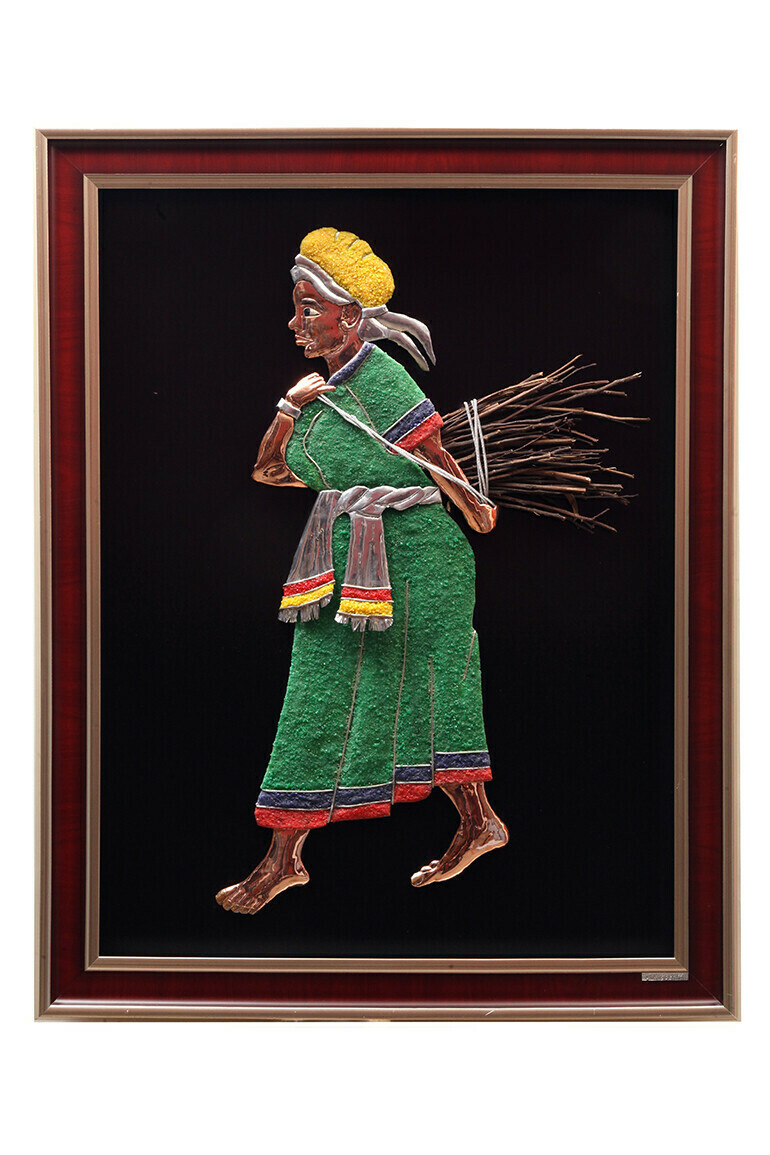 Ethiopian Women Returning Home Collecting firewood.