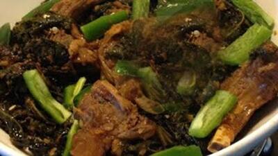 ጎመን በስጋ (Collard Green With Meat)