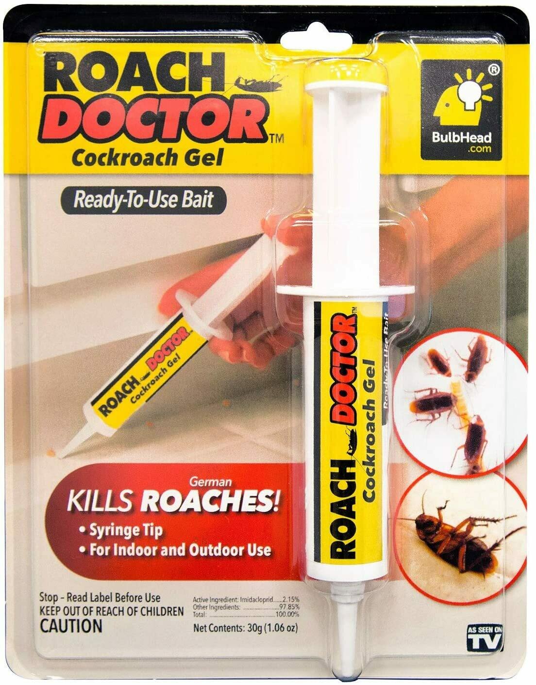የበረሮ ማጥፊያ ሲሪንጅ አብሮት የሚመጣ Roach Doctor Cockroach Gel Ready-to-Use Roach Killer with Syringe Applicator