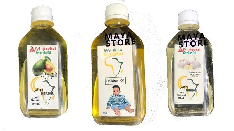 ከእፅዋት የተሰራ ዘይት Afri Herbals oils