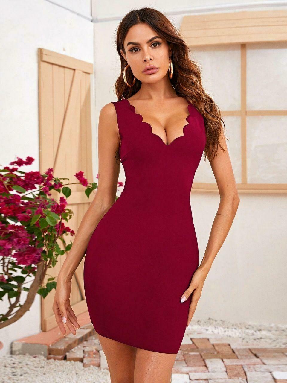 Small Red color dress ቀይ አጭር ቀሚስ