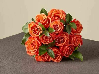 ፅጌረዳ Orange Pumpkin Bouquet