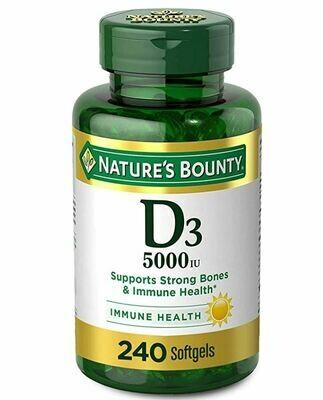 ቫይታሚን ዲ3 Vitamin D3 125 mcg (5000iu), 240 Softgels